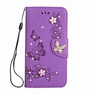 billiga Mobil cases & Skärmskydd-fodral Till Sony Xperia XA Ultra Sony Korthållare Plånbok Strass med stativ Lucka Magnet Läderplastik Fodral Fjäril Hårt PU läder för