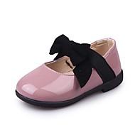 baratos Sapatos de Menina-Para Meninas Sapatos Courino Primavera Verão Conforto Rasos Laço / Elástico para Dourado / Preto / Roxo Claro / Festas & Noite