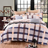 Geometric 4 Piece Cotton Cotton 1pc Duvet Cover 2pcs Shams 1pc Flat Sheet