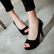 Feminino Sapatos Couro Ecológico Verão Conforto Sandálias Para Casual Preto Roxo Vermelho