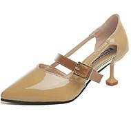 Ženske Sandale Udobne cipele PU Proljeće Ljeto Kauzalni Kopčanje na kukicu Niska potpetica Bež Pink Deva Do 2.5 cm