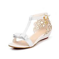 여성 구두 PU 여름 컴포트 샌들 제품 캐쥬얼 화이트 핑크 아몬드