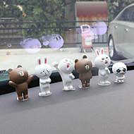 DIY automotive ornamenter tegneserie sød dukke bil vedhæng&Ornamenter pvc