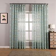Window Treatment Bohem , Blomsternål i krystall Stue Materiale Gardiner Skygge Hjem Dekor For Vindu