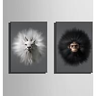 baratos -Tela de impressão 2 Painéis Tela Vertical Estampado Decoração de Parede For Decoração para casa