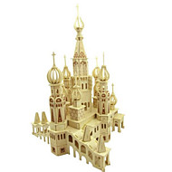 cheap -3D Puzzles Jigsaw Puzzle Wood Model Famous buildings House Architecture 3D Wood Natural Wood 6 Years Old and Above
