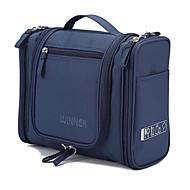 1pc mørk blå oppbevaringsposer vaskepose reisepakke kosmetikkpose