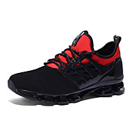 cheap Women's Athletic Shoes-Unisex Shoes Tulle Suede Spring Summer Novelty Athletic Shoes Flat Heel Round Toe Lace-up for Wedding Office & Career Outdoor Black Light