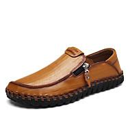 Homme Chaussures Cuir Printemps Automne Confort Mocassins et Chaussons+D6148 Fermeture Pour Décontracté Soirée & Evénement Noir Jaune