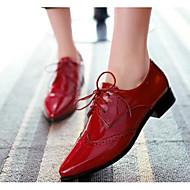 Dames Schoenen PU Zomer Comfortabel Hoge hakken Voor Causaal Zwart Rood Blauw