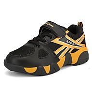 Para Meninos Tênis Solados com Luzes Primavera Outono Tule Caminhada Casual Velcro Rasteiro Azul Escuro Preto e Dourado Azul Real 5 a 7 cm