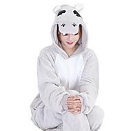 Kigurumi pidžama s papučama Vodenkonj Onesie pidžama Kostim Fabrik Flannel Sive boje Plava Pink Cosplay Za Zivotinja Odjeća Za Apavanje