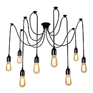 Vintage Multiple Heads Adjustable DIY Ceiling Spider Pendant Lighting Living Room Dining Chandelier Creative