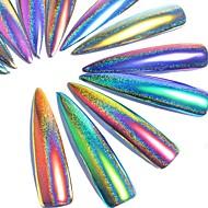 3g / box kék lila csillaghámos holografikus lézer por holo nail art glitter por