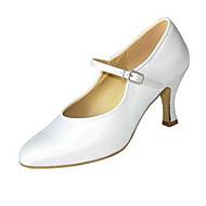 billige Moderne sko-Dame Moderne Silke Sandaler Opptreden Spenne Kubansk hæl Hvit Svart Brun Naken 6 cm Kan spesialtilpasses