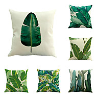 Set Of 6 Tropical Plant Pattern Pillow Cover Classic Sofa Pillow Case