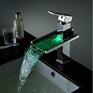 cheap Bathroom Sink Faucets-Bathroom Sink Faucet - Waterfall Chrome Vessel Single Handle One Hole