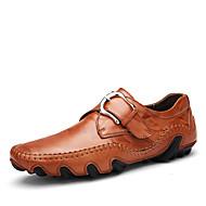 tanie Obuwie męskie-Męskie Komfortowe buty Skóra nappa Wiosna / Jesień Mokasyny i buty wsuwane Czarny / Brązowy / Ciemnobrązowy / Impreza / bankiet