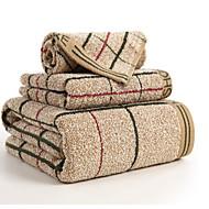 tanie Zestaw ręczników kąpielowych-Najwyższa jakość Zestaw ręczników kąpielowych, Plaid / Sprawdź 100% bawełna Łazienkowe