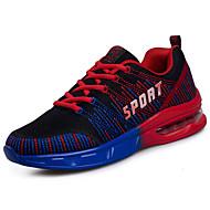 Masculino sapatos Tule Primavera Outono Conforto Tênis Caminhada Cadarço Para Casual Laranja Vermelho Verde Claro Azul Real