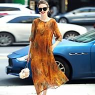 Χαμηλού Κόστους REVIENNE BAY®-Γυναικεία Εκλεπτυσμένο Κομψό στυλ street Φαρδιά Φόρεμα - Στάμπα Μίντι