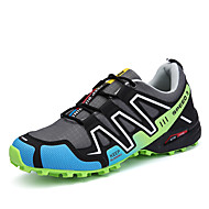 Men's Athletic Shoes Hiking Comfort Leatherette Spring Fall Athletic Casual Outdoor Split Joint Flat Heel Green Ruby Flat