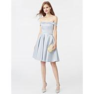 A-Linie Princess Ke kolenům Satén Koktejlový večírek Maturita Šaty s Šerpa / Stuha podle TS Couture®