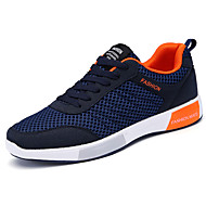 Masculino sapatos Couro Ecológico Primavera Outono Conforto Tênis Caminhada Cadarço Para Casual Preto Cinzento Azul