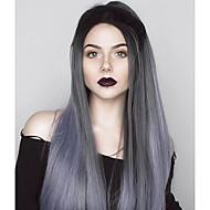 uniwigs sasha futura syntetisk blonder foran parykker for ombre grå hår