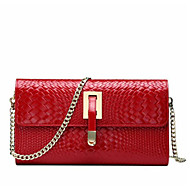 Women Bags All Seasons Cowhide Shoulder Bag for Casual Outdoor Red