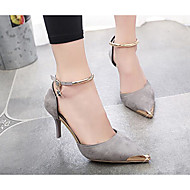 Women's Shoes Suede Summer Comfort Wedding Shoes For Wedding Casual Black Gray Red