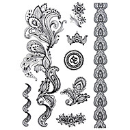 cheap Temporary Tattoos-1 Non Toxic Pattern Halloween Large Size Tribal Lower Back Waterproof Others Tattoo Stickers
