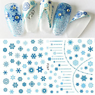 1 pcs 3D Negle Stickers Nail DIY Tools Negle kunst Manicure Pedicure 3D Mode Daglig / 3D Nail Stickers