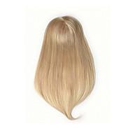 저렴한 -uniwigs 인간의 머리 모노 헤어 피스 헤어 topperhand 만든 머리카락을 즉시 머리 손실을 추가 스트레이트 금발 컬러 묶어