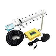 Intelligent Display Mobile Phone GSM 900mhz 2G Signal Booster GSM980 Signal Repeater with Whip Antenna / Yagi Antenna Yellow