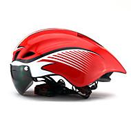 Erwachsene Fahrradhelm Aero Helm 6 Öffnungen ASTM Stoßfest Leichtes Gewicht Belüftung EPS PC Sport Geländerad Straßenradfahren Radsport / Fahhrad - Hellblau Schwarz / gelb Red / White (weißer Rahmen)