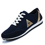 Men's Sneakers Light Soles Fleece Fall Winter Casual Outdoor Low Heel Fuchsia Dark Blue Black Under 1in