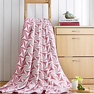 Gebreid Blad Polyester / Katoen Mix dekens