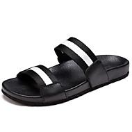 Herren Schuhe Gummi Kunststoff Frühling Sommer Komfort Stiefeletten Sandalen Upstream Schuhe Schnalle Für Sportlich Normal Schwarz/weiss