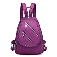 Women Bags All Seasons Nylon Backpack for Outdoor Blue Black Amethyst