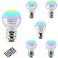 3W E27 Lâmpada de LED Inteligente A60(A19) 1 LED Integrado 300 lm RGB 2700-6500 K Regulável Controle Remoto Decorativa V