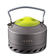 ALOCS Retkivesipannu Retkikahvipannu Kahvi ja tee Kannettava Mineraali Alumiini varten Piknik Retkeily ja vaellus Ulkoilu