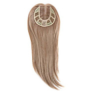 uniwigs remy human hair mono hairpiece lukking håndlaget bundet hår topper rett 16 inches for hårtap (y-22)