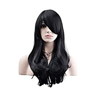 Syntetiske parykker / Kostumeparykker Naturligt, bølget hår Syntetisk hår Paryk Dame Medium Lågløs