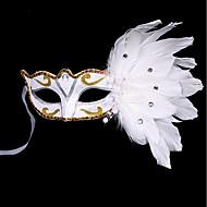 1pc kleine hoed haarband voor Halloween kostuum feestje het platte gouden zilver maskerade masker veer schilderen masker