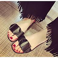 Dame Sko PU Sommer Komfort Sandaler Til Avslappet Hvit Svart