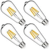 6W フィラメントタイプLED電球 6 LEDの COB 調光可能 装飾用 温白色 580lm 2700K AC 110-130V