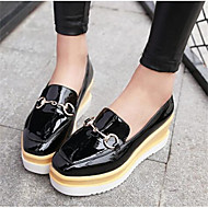 Women's Shoes Patent Leather Spring Comfort Loafers & Slip-Ons For Casual Black Beige Red