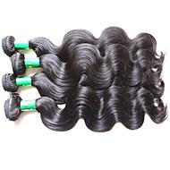 Yaz satış üst sınıf kalite Hint saç vücut dalga 4bundles 400g çok işlenmemiş indian insan saç uzantıları örgüleri doğal siyah renk