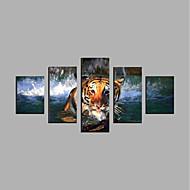 Prints-Rolde canvasafdrukken Abstract, Vijf panelen Kangas Horizontaal Print Muurdecoratie Huisdecoratie